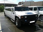 Лимузин Hummer H2 для свадьбы в городе Астана.
