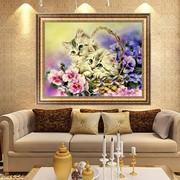 Алмазная вышевка,  цветы,  прекрасный подарок